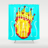 biggie Shower Curtains featuring Biggie Smalls by Hussein Ibrahim