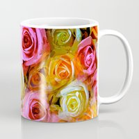 roses Mugs featuring Roses  by Saundra Myles
