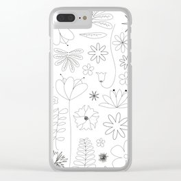Miscellaneous flowers Clear iPhone Case