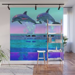 Dolphin Jitter Wall Mural