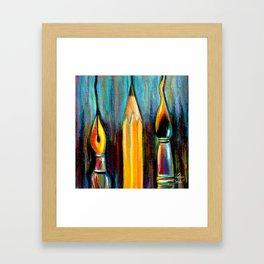 Pen, Pencil, Brush Framed Art Print