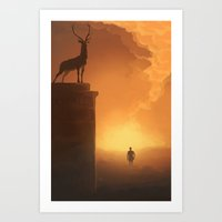 skyfall Art Prints featuring Skyfall by Pulvis