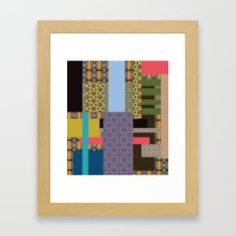 All about pattern 2 Framed Art Print