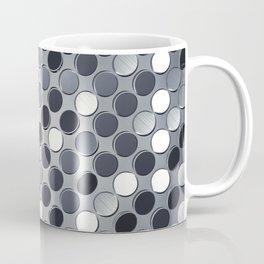 Metallic grid backdrop Coffee Mug