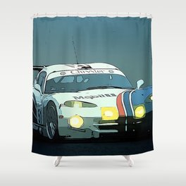 Viper at Le Mans Shower Curtain