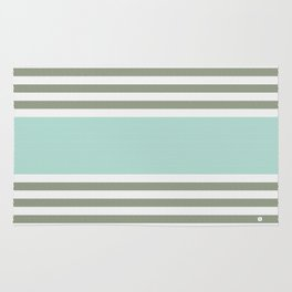 HERRINGBONE STRIPE V - MINT Rug