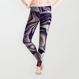 Rose Gold UltraViolet Marble Leggings