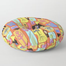Colorful simple sketches Floor Pillow