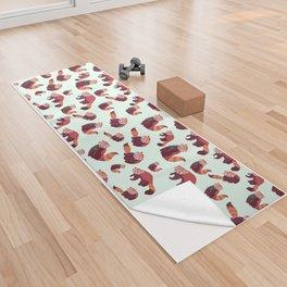 Red Panda Pattern Yoga Towel