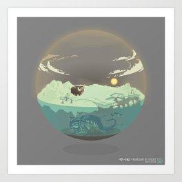 Bubble-map #01 Kalt Art Print