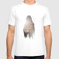 Time Mens Fitted Tee White MEDIUM