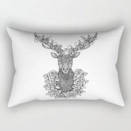 A Deer Portrait by Kent Chua Rectangular Pillow
