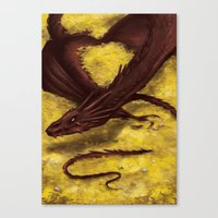 smaug Canvas Prints featuring Smaug by toibi