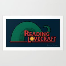 Reading Lovecraft Art Print