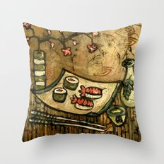 Sushi Served Here Throw Pillow