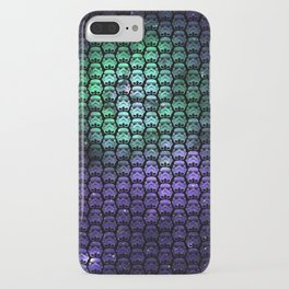 Galactic Empire Stormtroopers Over Purple and Green Cosmos iPhone Case