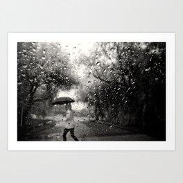 Past the Raindrops Art Print