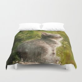 Cute abstract kitten Duvet Cover