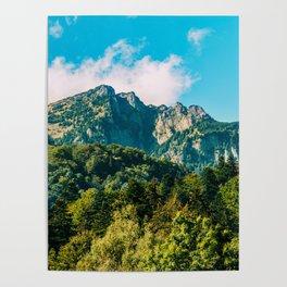 Carpathian Mountains Landscape, Summer Landscape, Transylvania Mountains, Forests Of Romania Poster