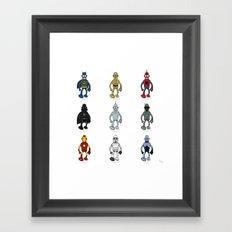 Bender meets - Series 1 Framed Art Print