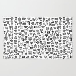 letter Z - zoological animals Rug