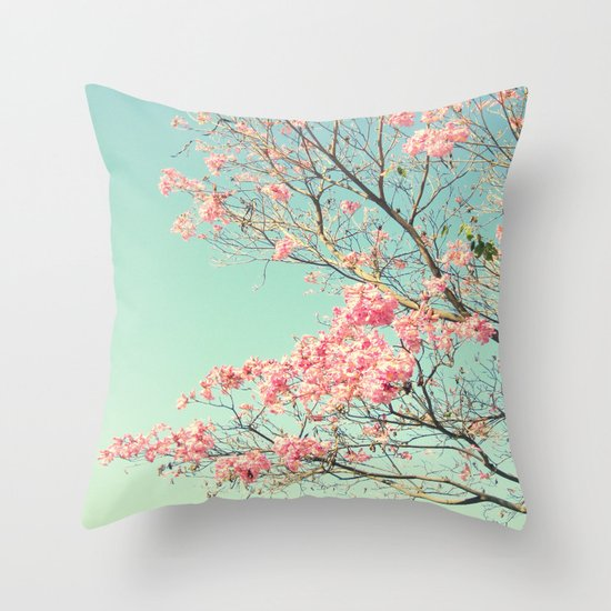 Spring Kissing the Sky Throw Pillow