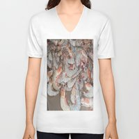 large V-neck T-shirts featuring Large shrimp by lennyfdzz