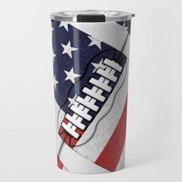 4th of July American Football Fanatic Travel Mug