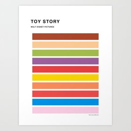 The colors of - Toy Story Art Print