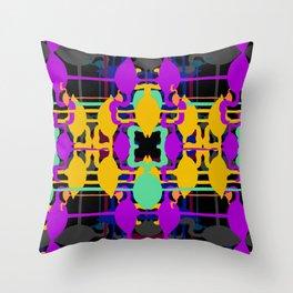 Flamingo abstract colour colour colour Throw Pillow