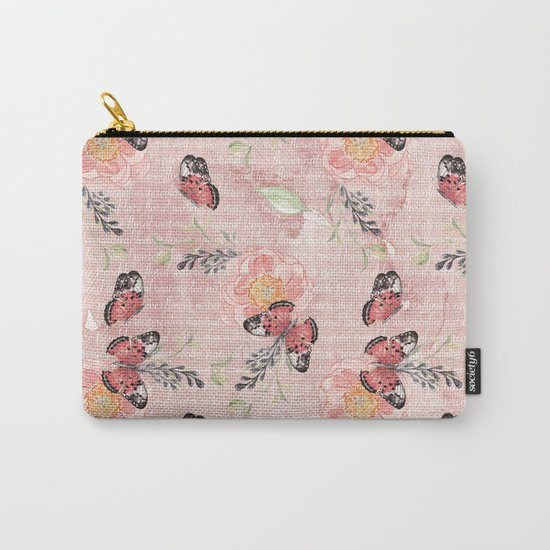 Flowers & butterflies #1 Carry-All Pouch