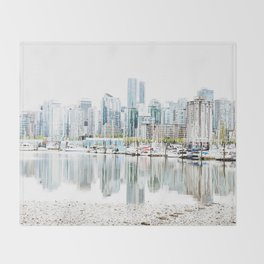 Vancouver Skyline Throw Blanket