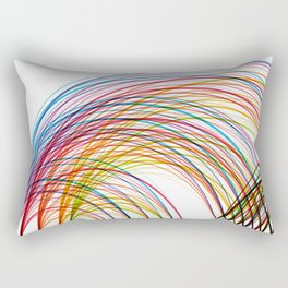»Who« – Data Visualization of a Social Network Rectangular Pillow