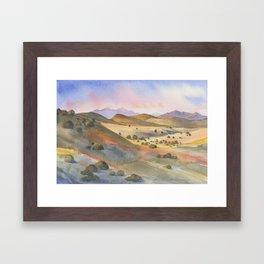 The Foothills of Sierra County Framed Art Print