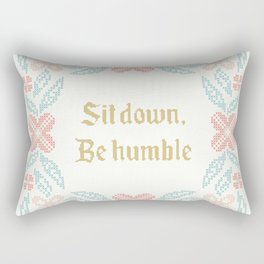 Vintage Inspired Throw Pillow with Rap Lyrics by Kendrick Rectangular Pillow