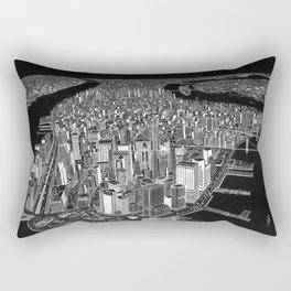 New York City in BW Rectangular Pillow