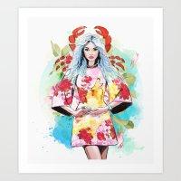 cancer Art Prints featuring Cancer by Sara Eshak