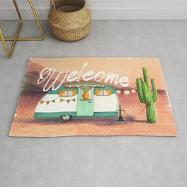 Welcome Desert Camper Rug