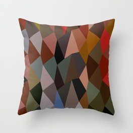 Burnt Umber Abstract Low Polygon Background Throw Pillow