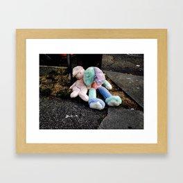 Abandoned Stuffed Animals in Seattle Framed Art Print