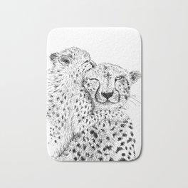 Cheetah hug Bath Mat
