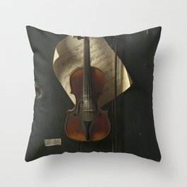 William Michael Harnett The Old Violin 1886 Painting Throw Pillow