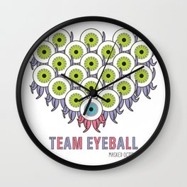 TEAM EYEBALL - Masked Octopus Wall Clock
