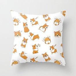 Cute as Hecc Throw Pillow