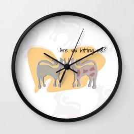 kittykidding Wall Clock