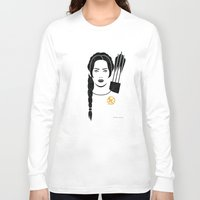 katniss Long Sleeve T-shirts featuring Iconic Katniss by Arne AKA Ratscape