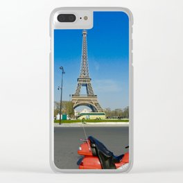 Ride to Paris Clear iPhone Case