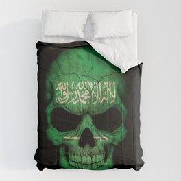 Dark Skull with Flag of Saudi Arabia Comforters