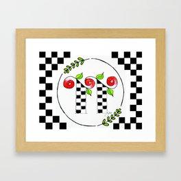 TT monogram Framed Art Print
