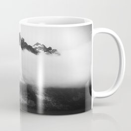 Teton in the clouds Coffee Mug